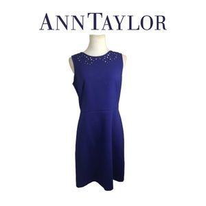 Ann Taylor Blue Dress Sz 4
